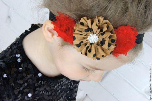 Детская бижутерия ручной работы. Ярмарка Мастеров - ручная работа. Купить Повязка на голову для девочки КАРМЕН. Handmade. Ярко-красный