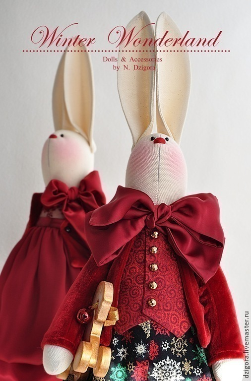 Игрушки животные, ручной работы. Ярмарка Мастеров - ручная работа. Купить В ожидании Волшебства.... Handmade. Кролики, заяц, рождество