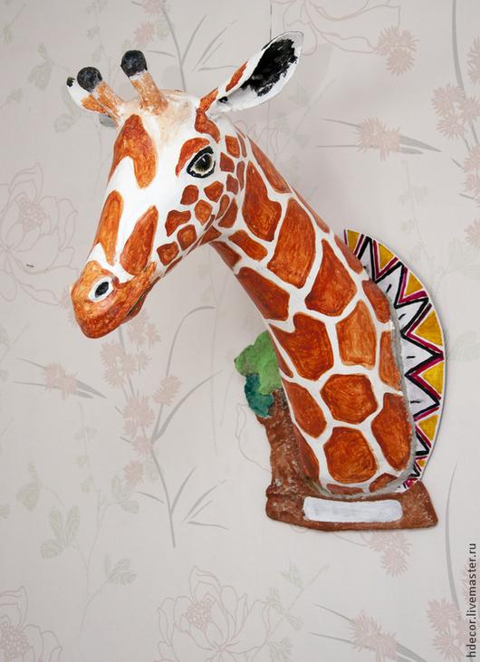 Элементы интерьера ручной работы. Ярмарка Мастеров - ручная работа. Купить Жираф. Handmade. Интерьерная скульптура, жираф, африканские мотивы