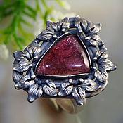 Украшения handmade. Livemaster - original item Tourmaline, silver: ring
