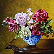 Картины и панно ручной работы. Ярмарка Мастеров - ручная работа Цветочный натюрморт. Handmade.