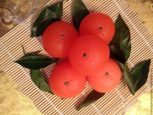 Мыло-мандарин. В составе мыльная основа производства Англия, базовые масла, ароматизатор-мандарин