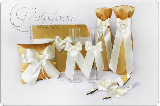 """Набор свадебных аксессуаров """"Золото""""\r\nСвадебный набор аксессуаров,свадебные аксессуары ручной работы."""