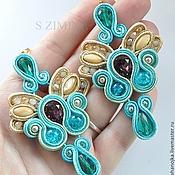 Украшения handmade. Livemaster - original item Soutache jewelry earrings Dolcini. Handmade.
