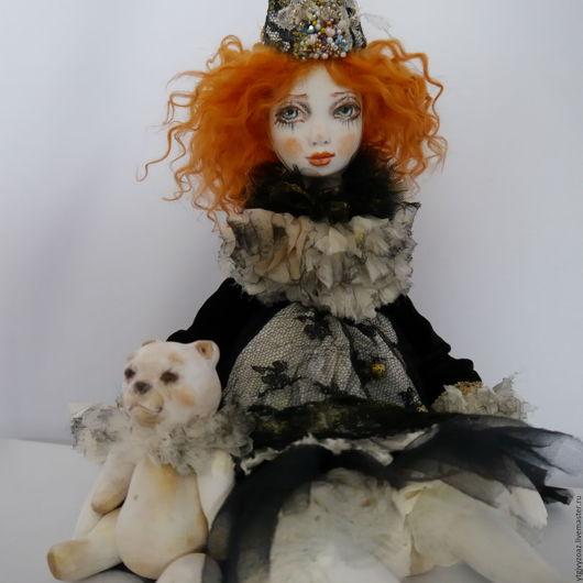 кукла Пьеритта и мишка из дерева липа  Непомнящая Людмила Ярмарка Мастеров