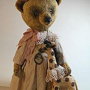 """Куклы и игрушки ручной работы. Ярмарка Мастеров - ручная работа Авторский медведь Тедди. """"С Жирафой"""")). Handmade."""