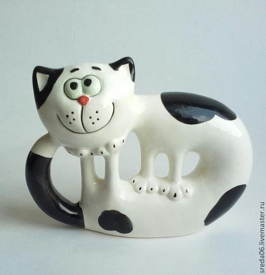 Статуэтки ручной работы. Ярмарка Мастеров - ручная работа. Купить кот , гуляющий сам по себе. Handmade. Чёрно-белый, черный
