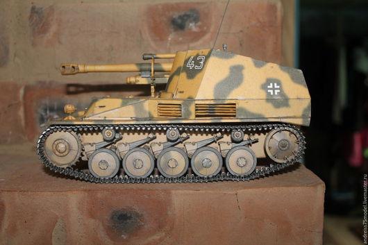 """Миниатюрные модели ручной работы. Ярмарка Мастеров - ручная работа. Купить САУ Sd Kfz 124 """"Wespe"""". Handmade."""