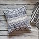 """Текстиль, ковры ручной работы. Ярмарка Мастеров - ручная работа. Купить Интерьерная подушка """"Морозные узоры"""". Handmade. Подушка, шерсть"""