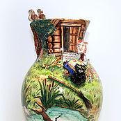 """Для дома и интерьера ручной работы. Ярмарка Мастеров - ручная работа Ваза фарфоровая """"Баба Яга"""". Handmade."""