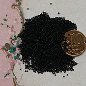 Бисер ручной работы. Ярмарка Мастеров - ручная работа 24/0 венецианский микро-бисер антикварный цвет чёрный. Handmade.