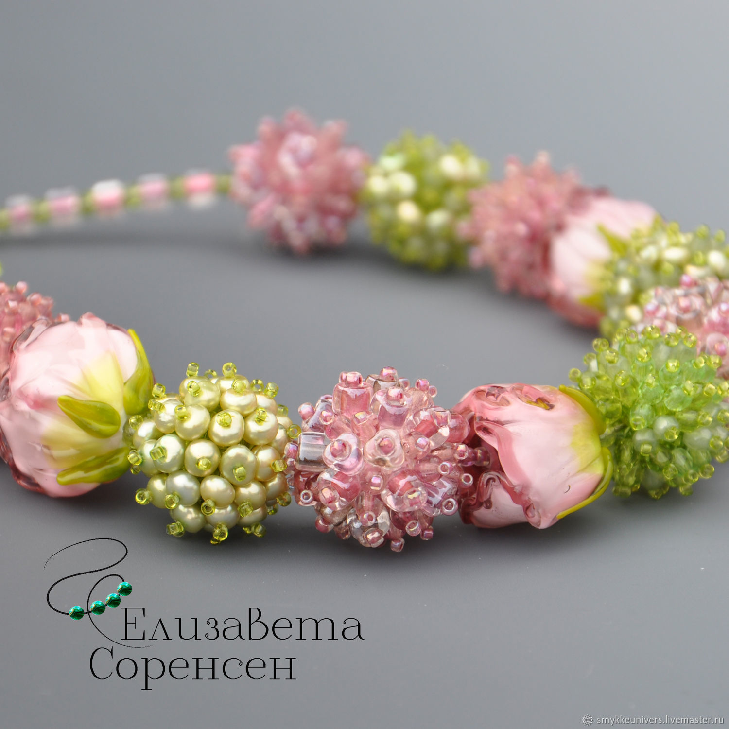 Necklace with roses Blooming garden, Necklace, Copenhagen,  Фото №1
