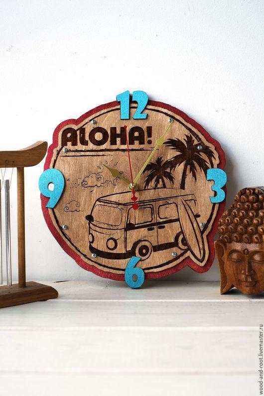 Часы для дома ручной работы. Ярмарка Мастеров - ручная работа. Купить Часы настенные Алоха. Handmade. Комбинированный, часы, гавайи