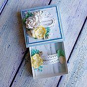 Свадебный салон ручной работы. Ярмарка Мастеров - ручная работа Свадебная коробочка для денег - морская. Handmade.