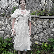 Sundresses handmade. Livemaster - original item Boho sundress, washed linen shawl. Handmade.