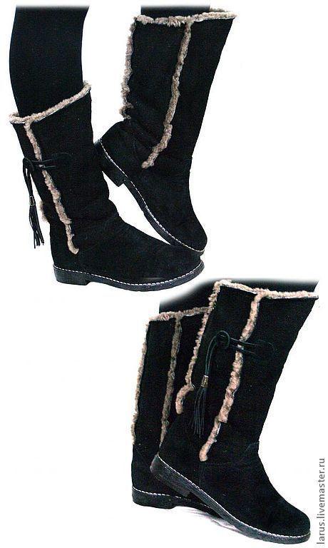 Обувь ручной работы. Ярмарка Мастеров - ручная работа. Купить Угги. Handmade. Черный, обувь ручной работы, женская обувь
