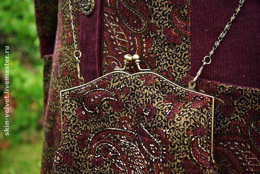"""Верхняя одежда ручной работы. Ярмарка Мастеров - ручная работа. Купить """"В сумерках старого парка"""" Пальто с сумочкой.. Handmade."""
