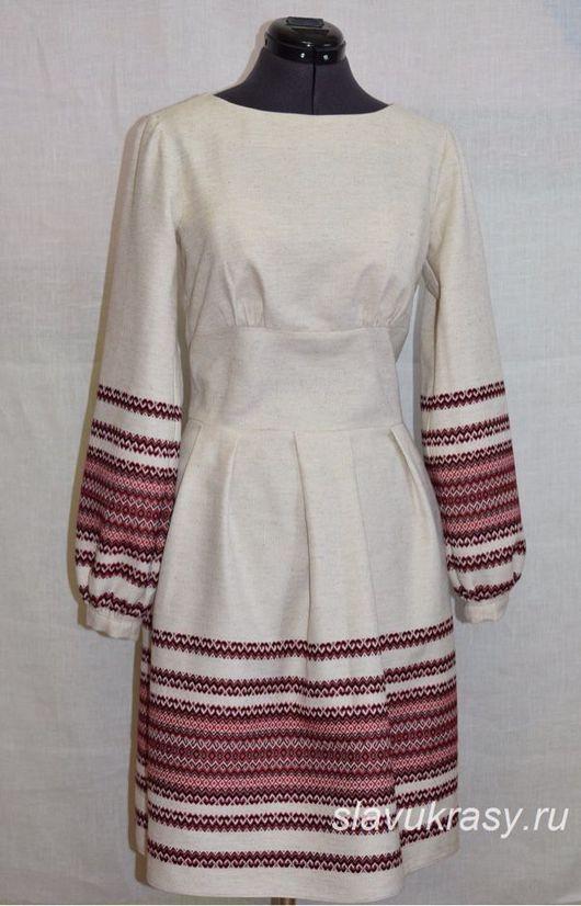 Одежда ручной работы. Ярмарка Мастеров - ручная работа. Купить Платье из узорной ткани Хозяюшка.. Handmade. Красивый подарок