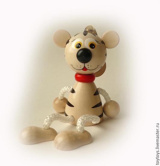"""Игрушки животные, ручной работы. Ярмарка Мастеров - ручная работа. Купить Игрушка """"Тигрёнок белый"""" на пружинке. Handmade. Тигренок, тигр"""