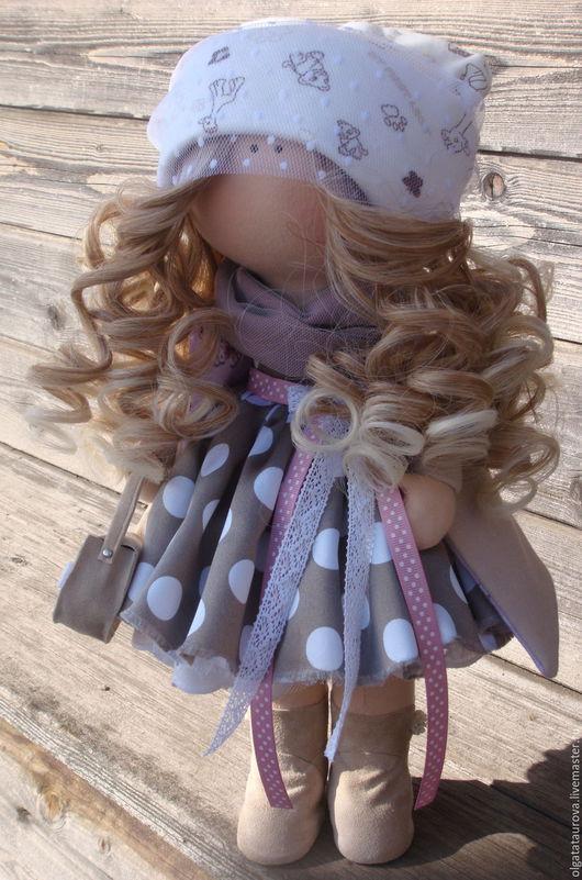 Куклы тыквоголовки ручной работы. Ярмарка Мастеров - ручная работа. Купить Интерьерная кукла ручной работы. Handmade. Бежевый, хендмейд