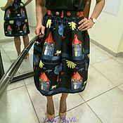 """Одежда ручной работы. Ярмарка Мастеров - ручная работа Дизайнерская юбка миди """"Катрин"""". Handmade."""