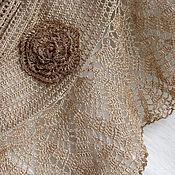 Аксессуары handmade. Livemaster - original item Linen summer stole-wrap