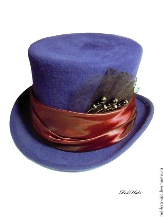 Шляпы ручной работы. Ярмарка Мастеров - ручная работа. Купить Цилиндр Шляпника. Handmade. Синий, шляпа шляпника, цилиндр безумного