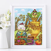 Картины и панно handmade. Livemaster - original item Picture Poster Tea Party on a Windy Day Picture for Home. Handmade.