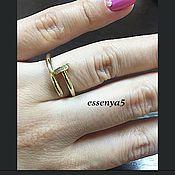 Украшения ручной работы. Ярмарка Мастеров - ручная работа Золотое кольцо реплика cartier с бриллиантами. Handmade.