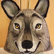 """Для дома и интерьера ручной работы. Ярмарка Мастеров - ручная работа Шапка  """"Волк"""". Handmade."""