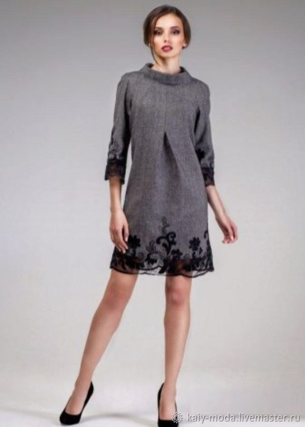 Dress-tweed with lace, Dresses, Moscow,  Фото №1