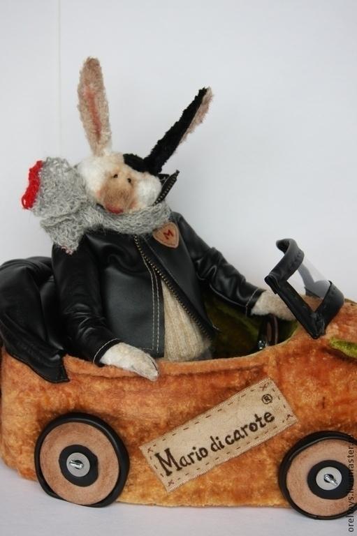 Мишки Тедди ручной работы. Ярмарка Мастеров - ручная работа. Купить Mario &  Морквомобиль ). Handmade. Оранжевый