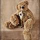 Мишки Тедди ручной работы. Ярмарка Мастеров - ручная работа. Купить РЕБЕККА. Коллекционный медведь. Одна из пары коллекционных медведей. Handmade.