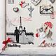 Красный.Свадебный переполох. Свадебный подарок. Романтика. Необычная картина-панно на свадебную тему. Подарок молодоженам. Свадебное путешествие,Париж,любовь, семья, свадьба. Подарок на свадьбу.