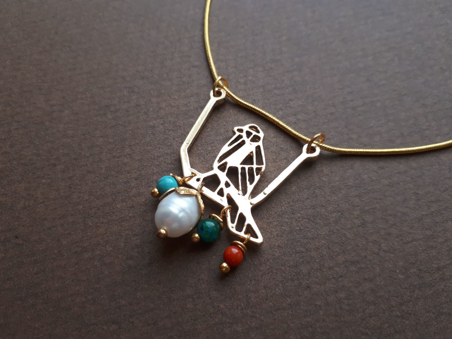 Pendant with a bird and stones, Jewelry Sets, St. Petersburg,  Фото №1