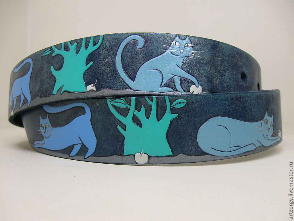 strap leather 'Cats', Straps, Moscow,  Фото №1