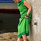 """Платья ручной работы. Платье-бохо """" Оттенки зеленого"""". Алена (indeeza). Ярмарка Мастеров. Лето"""