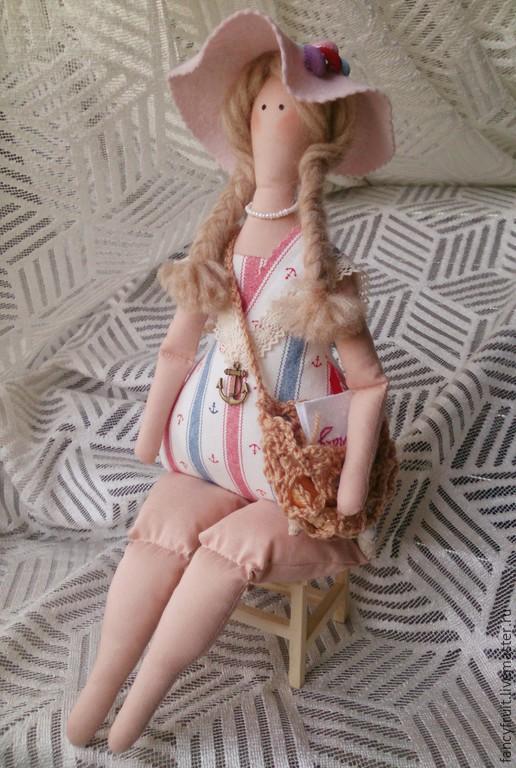 Куклы Тильды ручной работы. Ярмарка Мастеров - ручная работа. Купить Кукла в морском стиле по мотивам Тильда. Handmade.