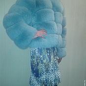 """Одежда ручной работы. Ярмарка Мастеров - ручная работа Шуба из песца модель """"Аквамарин"""" цвет бирюза. Handmade."""