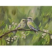 handmade. Livemaster - original item Painting birds