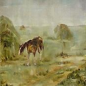 """Картины и панно ручной работы. Ярмарка Мастеров - ручная работа Картина """"Дождь. Мокрая лошадь"""". Handmade."""