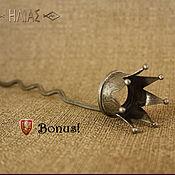 Старая Серебряная Корона 7 Лучей  Заколка для волос (шпилька)