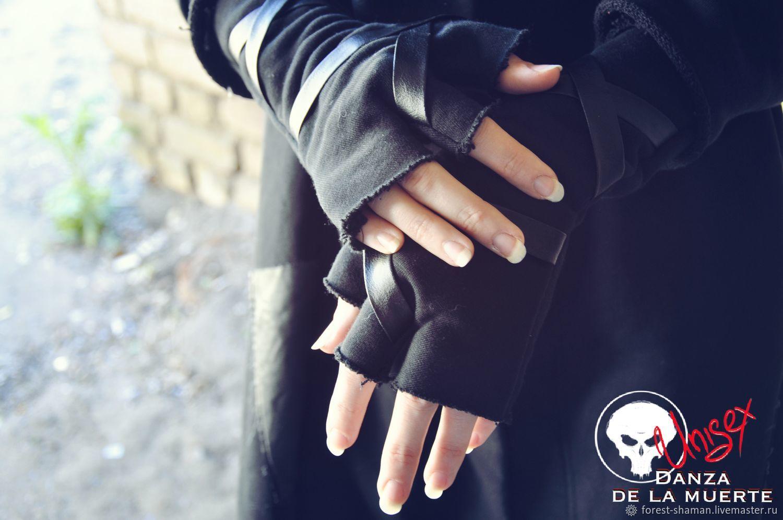 Перчатки неформальные с кожаными вставками, Перчатки, Москва,  Фото №1