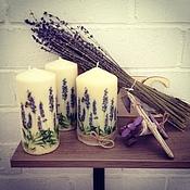 Сувениры и подарки handmade. Livemaster - original item Candle Lavender. Handmade.