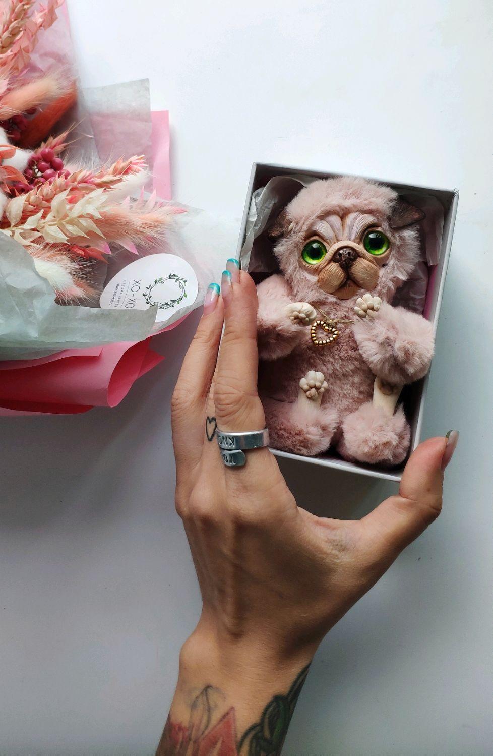 Авторская игрушка Мопсик Пудра, Мягкие игрушки, Екатеринбург,  Фото №1