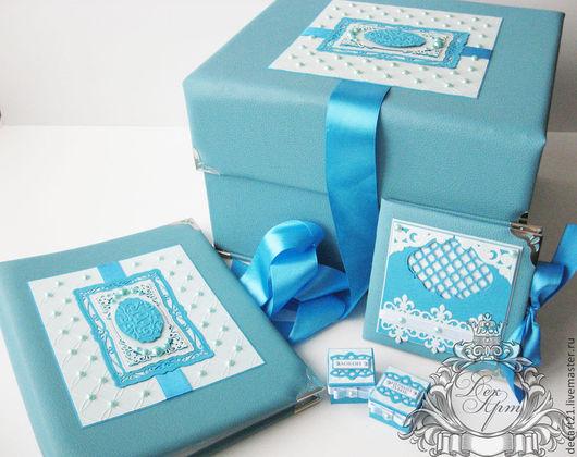 Подарки для новорожденных, ручной работы. Ярмарка Мастеров - ручная работа. Купить Набор для малыша (Коробка памяти,папка для рисунков,футляр для диска). Handmade.