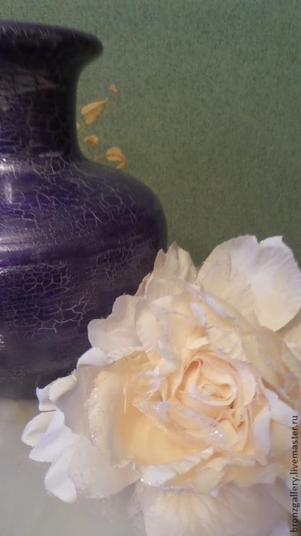 """Ваза керамическая """"Аметист"""" сиреневый фиолетовый серебро керамика"""
