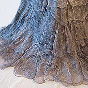 """Одежда ручной работы. Ярмарка Мастеров - ручная работа Юбка стиль бохо на запахе  """"Старое серебро"""". Handmade."""