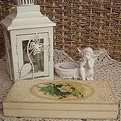 """Для дома и интерьера ручной работы. Ярмарка Мастеров - ручная работа Купюрница """"Винтажные розы"""". Handmade."""