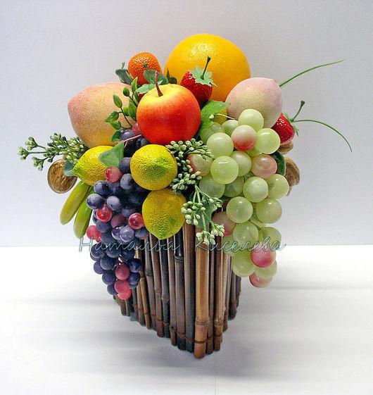 Интерьерные композиции ручной работы. Ярмарка Мастеров - ручная работа. Купить Короб с фруктами. Handmade. Короб, бамбук, интерьер кухни
